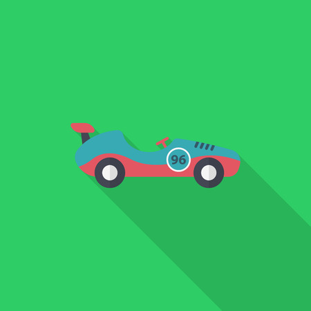 Roadster icon , Vector flat long shadow design. Racing concept.