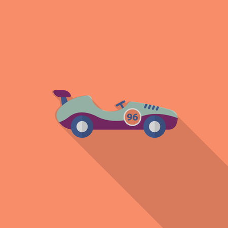 roadster: Roadster icon , Vector flat long shadow design. Racing concept.