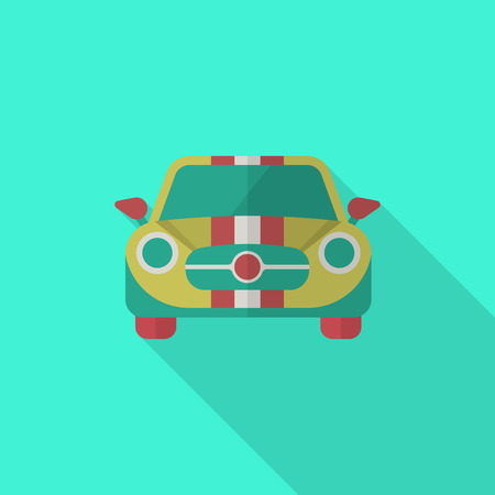 dragster: Dragster icon , Vector flat long shadow design. Racing concept. Illustration