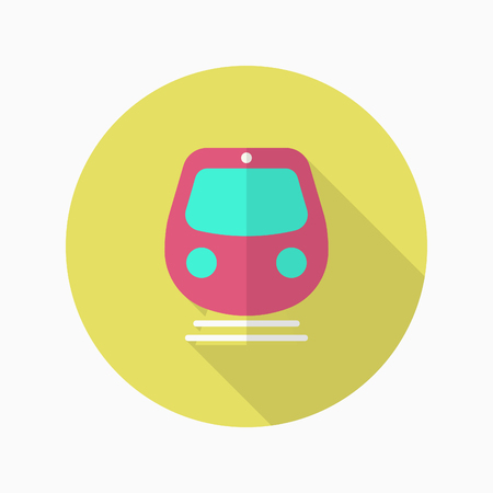 high speed: High speed train icon, Vector flat long shadow design. Transport concept.