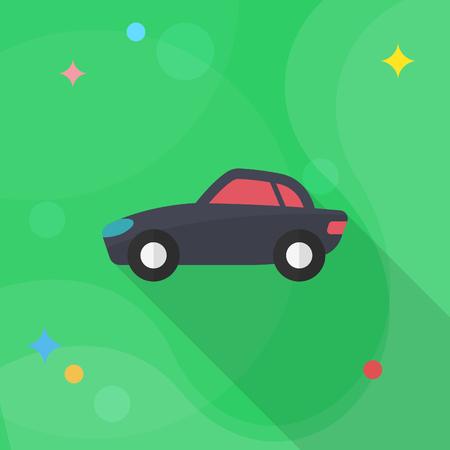 Sport car icon, Vector flat long shadow design. Transport concept. Illustration
