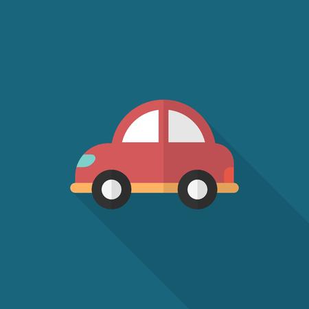 Car icon, Vector flat long shadow design. Transport concept.