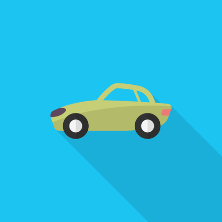 sportcar: Sport car icon, Vector flat long shadow design. Transport concept. Illustration