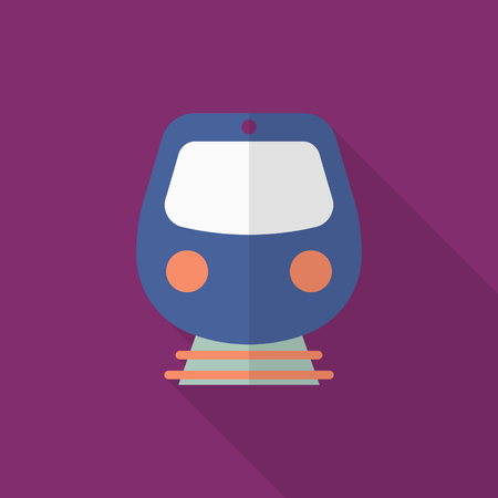 high speed train: High speed train icon, Vector flat long shadow design. Transport concept.