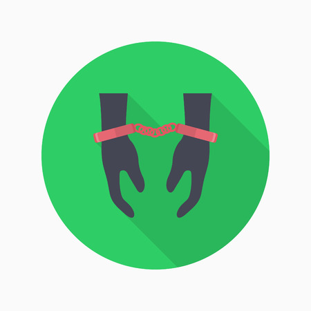 prison guard: Prisoner icon, Vector flat long shadow design.