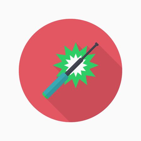 baton: Baton icon, Vector flat long shadow design. Illustration