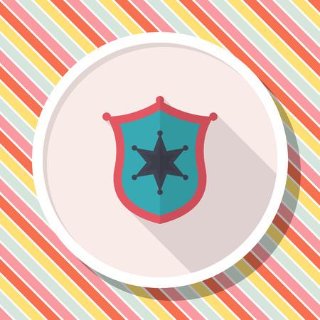 Insignia icon, Vector flat long shadow design.