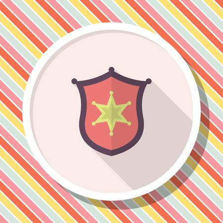 honour guard: Insignia icon, Vector flat long shadow design.