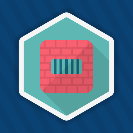 lawbreaker: Imprisonment icon, Vector flat long shadow design.