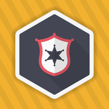 sergeant: Insignia icon, Vector flat long shadow design.