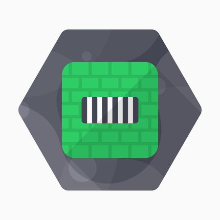 imprisonment: Imprisonment icon, Vector flat long shadow design.