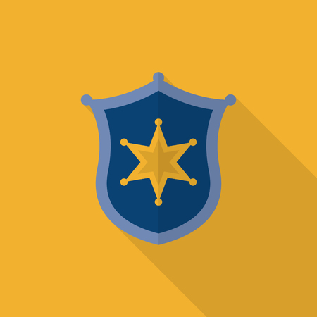 bage: Insignia icon, Vector flat long shadow design.