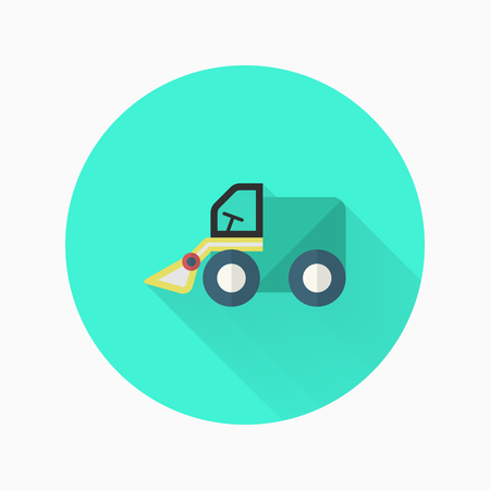 Forklift toy icon , Vector flat long shadow design. Childrens toys concept.