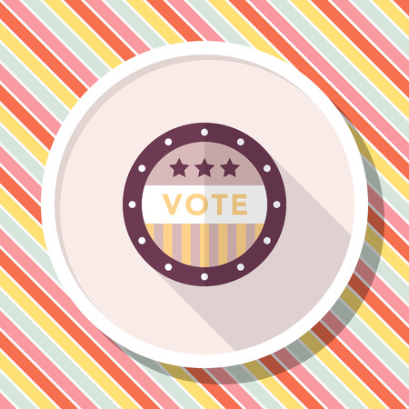 Vote sign icon , Vector flat long shadow design.