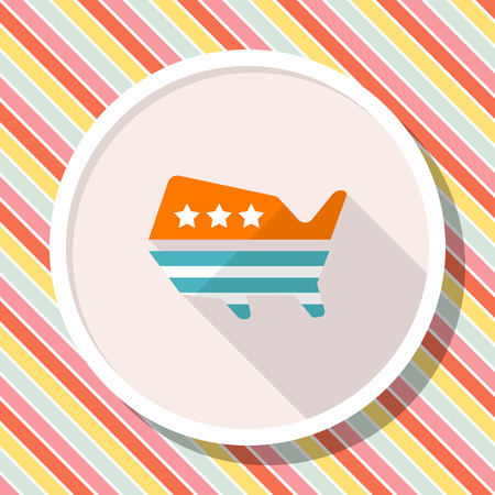 United States elections icon , Vector flat long shadow design. Illustration