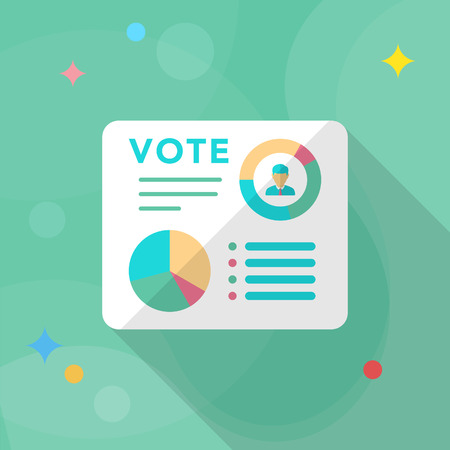 analise: Vote analysis icon , Vector flat long shadow design.