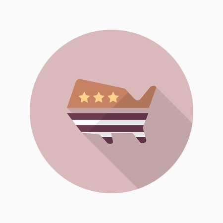 us congress: United States elections icon , Vector flat long shadow design. Illustration