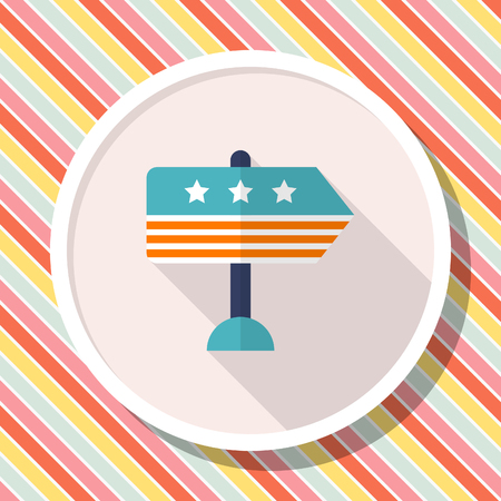 Vote here icon , Vector flat long shadow design.