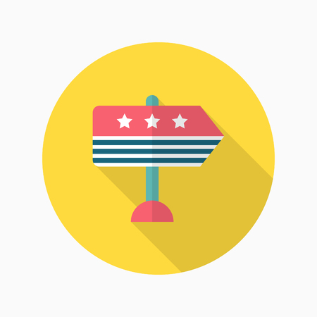 vote here: Vote here icon , Vector flat long shadow design.