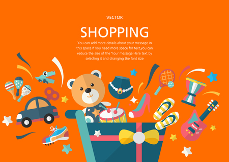 shopping concept in flat design style