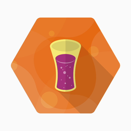 carbonated beverage: Soft Drinks icon, Vector flat long shadow design.