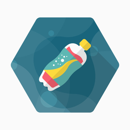 Soft Drinks icon, Vector flat long shadow design.