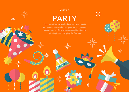 parade confetti: Party concept in flat design style