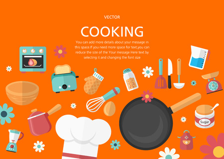 Cooking concept in flat design style