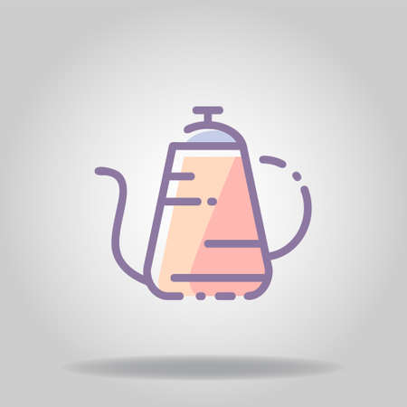 Logo or symbol of kettle icon with pastel color or flat style