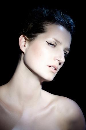 eyeliner: Model with eyeliner accent.