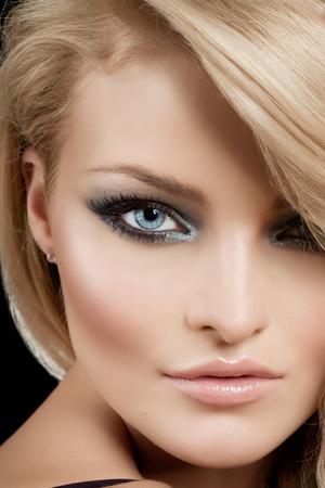 Model with nice makeup.