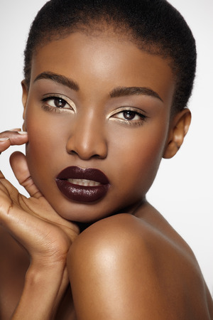 tanned woman: Beautiful African woman. Stock Photo