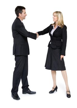 personas saludandose: Dos hombres de negocios saludo.