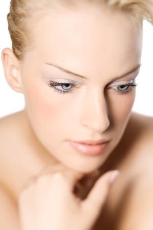 soft focus: Retrato suave del foco de una mujer. Lente TS.