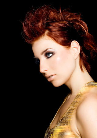 redhaired: Beautiful red-haired fashion model.