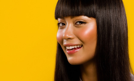 Asian model smiling. Stock Photo