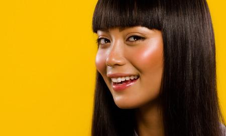 Asian model smiling. Banco de Imagens
