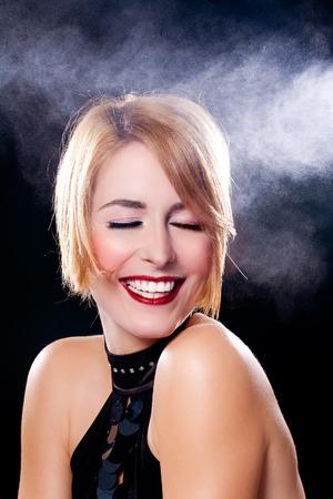 hairspray: Woman under hairspray.