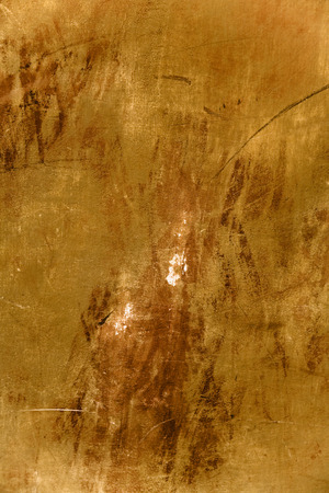 cruddy: Old brown yellow texture with spots and scratches. Stock Photo
