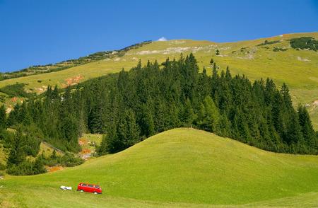 vacation destination: Green hills of Tirol. Vacation destination in Europe.