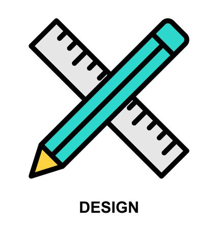 Ontwerp kleur icoon