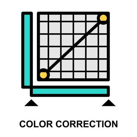 Professioneel kleurcorrectiepictogram