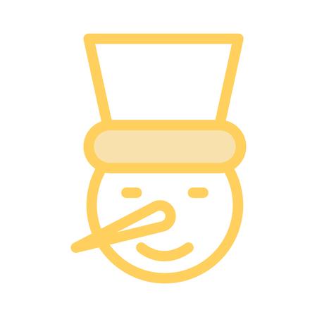 Snowman icon vector illustration.