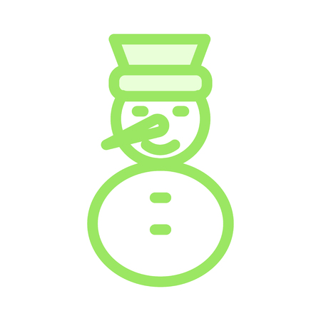 snowman Vector illustration isolated on white background.