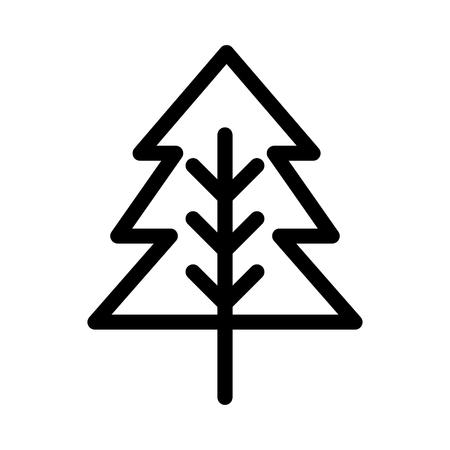 Tree icon isolated on white background, vector illustration.
