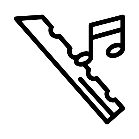 professional flute: musical note icon vector illustration.