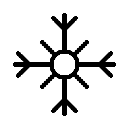 Snow flake vector illustration