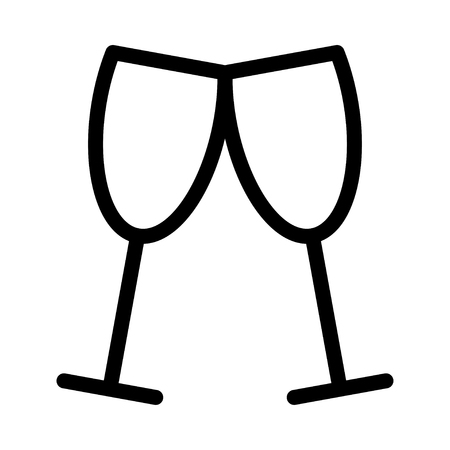 alcohol Glasses vector illustration.