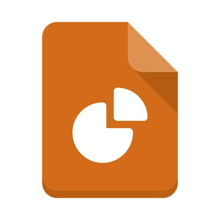 pie chart Document vector icon Illustration