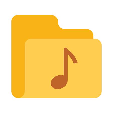 music Folder vector icon